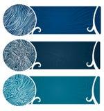 Het water wervelt ook Banner Stock Afbeeldingen