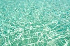 Het waterachtergrond van het aquamarijn Royalty-vrije Stock Afbeeldingen