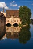 Het waterbezinning van Nuremberg Stock Foto