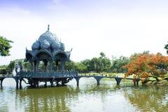 Het watercentrum van het paviljoen. Stock Foto's