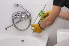Het waterdicht makende dichtingsproduct van het badsilicone stock fotografie