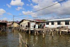 Het waterdorp Brunei van Kampongayer royalty-vrije stock afbeeldingen