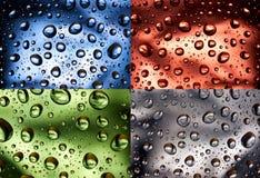 Het waterdruppeltjes van de kleur Stock Foto's