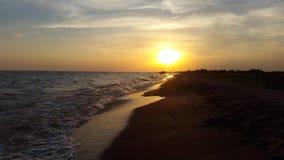 Het waterhemel van het zonland stock foto's