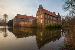 het waterkasteel herten Duitsland Royalty-vrije Stock Afbeelding