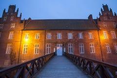 het waterkasteel herten Duitsland in de avond Royalty-vrije Stock Afbeeldingen
