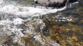 Het waterstroom van San Antonio River stock footage
