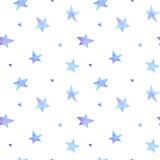 Het waterverfblauw speelt patroon mee Royalty-vrije Stock Afbeelding