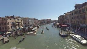 Het waterverkeer Timelapse van Venetië stock video