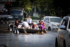 Het watervloed van Thailand Stock Foto