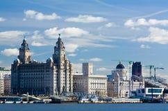 Het watervoorzijde van Liverpool Stock Foto's