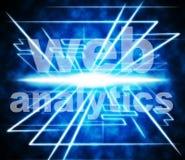 Het Web Analytics betekent Www en online optimaliseert Stock Foto's
