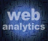 Het Web Analytics vertegenwoordigt Websitesgebruik en online Stock Fotografie