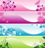 Het Web bloemenbanners van de kleur Royalty-vrije Stock Foto's
