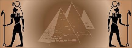 Het Web Egypte van de banner Stock Fotografie