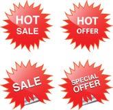Het Web en het af:drukken van de verkoop elementen Royalty-vrije Stock Foto