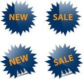 Het Web en het af:drukken van de verkoop elementen Stock Foto
