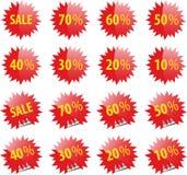 Het Web en het af:drukken van de verkoop elementen Royalty-vrije Stock Foto's