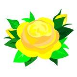 Het Web nam bloem, vectorillustratie toe stock illustratie