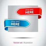 Het Web van de pijlbookmarkfor van de kleur Stock Afbeelding