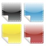 Het Web van stickers vector illustratie