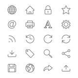 Het Web verdunt pictogrammen Royalty-vrije Stock Afbeeldingen
