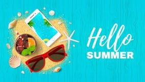 Het Webbanner van de de zomervakantie Stock Afbeelding