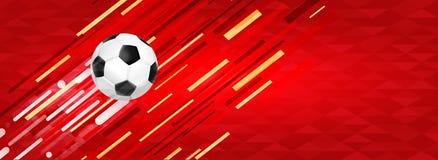 Het Webbanner van de voetbalbal voor speciaal sportevenement Royalty-vrije Stock Foto's