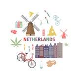 Het Webbanner van Nederland Adverterend malplaatje Vector illustratie Stock Fotografie