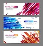 Het Webbanners van de technologielijn vector illustratie