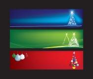 Het Webbanners van Kerstmis vector illustratie