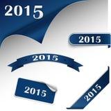 Het Webelement van de nieuwjaar blauw kaart Royalty-vrije Stock Foto