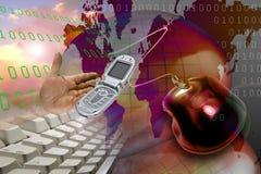 Het WebHTTP Internet van het netwerk www Stock Fotografie