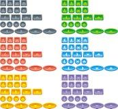 Het Webknopen van de kleur Royalty-vrije Stock Afbeeldingen