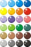 Het Webknopen van de kleur Stock Foto