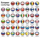 Het Webknopen van de vlag vector illustratie