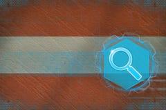 Het Webonderzoek van Oostenrijk Het concept van het Webonderzoek Royalty-vrije Stock Afbeeldingen