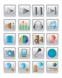 Het Webpictogram. vector beeld. Stock Afbeeldingen