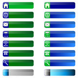 Het Webpictogrammen van bannerknopen. Stock Foto's