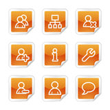 Het Webpictogrammen van gebruikers Stock Afbeelding