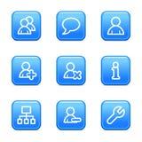 Het Webpictogrammen van gebruikers Stock Afbeeldingen