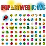 Het Webpictogrammen van het pop-art Royalty-vrije Stock Afbeelding
