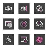 Het Webpictogrammen van Internet Royalty-vrije Stock Afbeelding