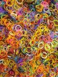 Het weefgetouw verbindt Slordige Fabriek als met Heldere Trillende Kleuren Royalty-vrije Stock Fotografie