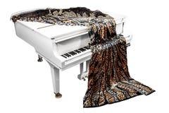 Het weefsel ligt op de piano Royalty-vrije Stock Foto's