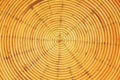 Het weefsel van het cirkelpatroon van bamboe Stock Afbeelding