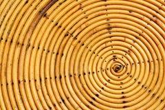 Het weefsel van het cirkelpatroon van bamboe Royalty-vrije Stock Fotografie