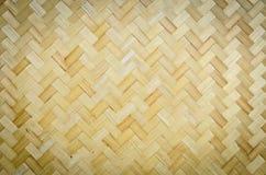 Het weefselpatroon van het bamboe Royalty-vrije Stock Foto