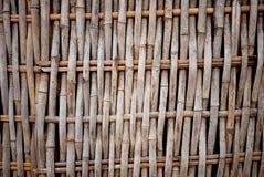Het weefselpatroon van het bamboe Royalty-vrije Stock Foto's
