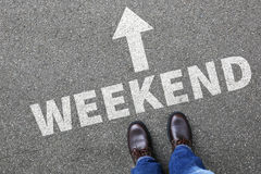 Het weekend ontspant ontspannen van bedrijfs onderbrekingsmensen conceptenvrije tijd Stock Afbeelding